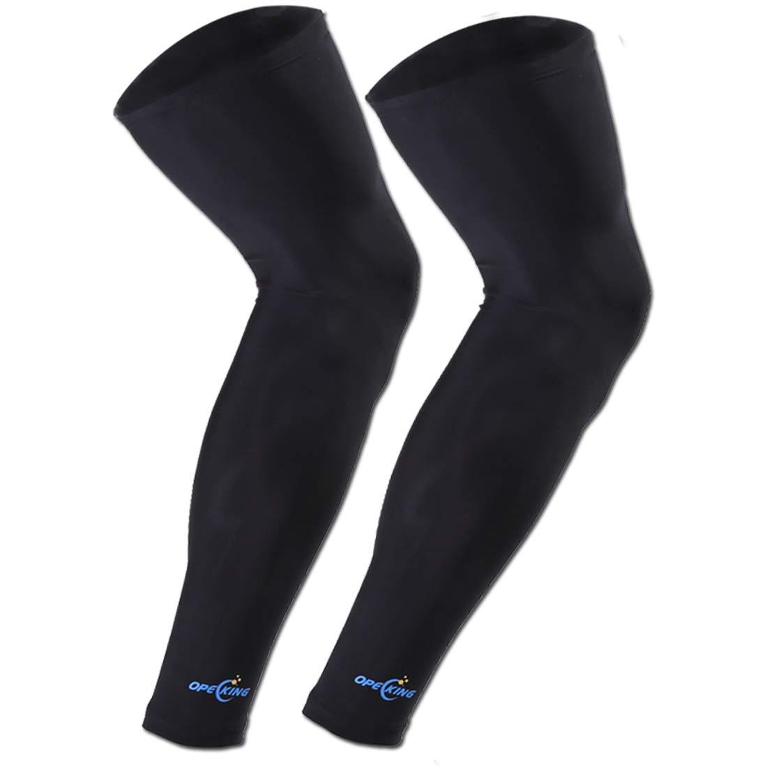 1 Pair Compression Leg Sleeve Non Slip Knee Long Sleeve Leggings for Shin Splints,Running,Medical Care,Travel,Pain Relief for Men and Women