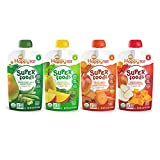 Happy Tot Organic Stage 4 Super Foods Variety Pack, 4.22 Ounce Pouch (Pack of 16) Green Beans Pear & Pea, Sweet Potato Apple Carrot & Cinnamon, Apple & Butternut Squash, Spinach Mango & Pear