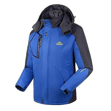 Logobeing Chaqueta de Hombre Invierno Aire Libre y Deporte Abrigo Chaqueta Cashmere Engrosamiento Cremallera con Capucha Jacket Chaqueta Hoodie Coat: ...