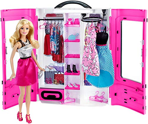 Guardaroba Di Barbie.Barbie Armadio Fashionistas Playset Con Guardaroba E Bambola Inclusa Per Bambini 3 Anni Dmt58
