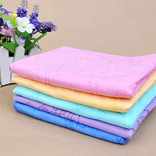 Petlicious & More Suede Material Bath Towel Ultra-Absorbent Dog Towels Machine Washable Towel for Small Medium Large Dogs and Cats (Color May Vary)