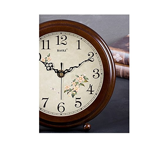 HAOFAY clock - Retro Vintage Mantel/European Modern Desktop Silent Quartz Clock Desk and Shelf Clock by HAOFAY (Image #2)
