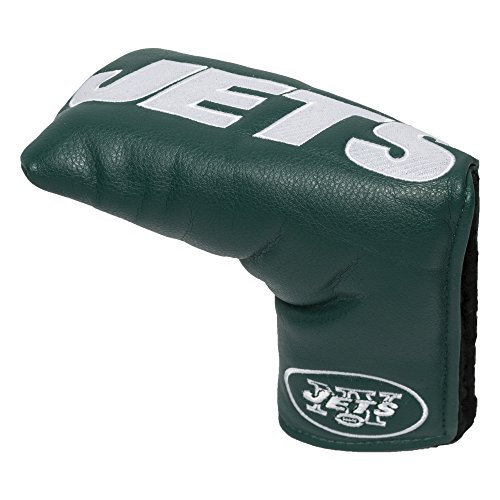 Team Golf NFL New York Jets Golf Club Vintage Blade Putter Headcover, Form Fitting Design, Fits Scotty Cameron, Taylormade, Odyssey, Titleist, Ping, Callaway