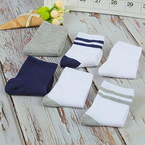 5ca1d2a9fc023 Cooraby 12 Pairs Unisex Toddler Socks Non-Skid Classic Crew Socks, Assorted  Colors and