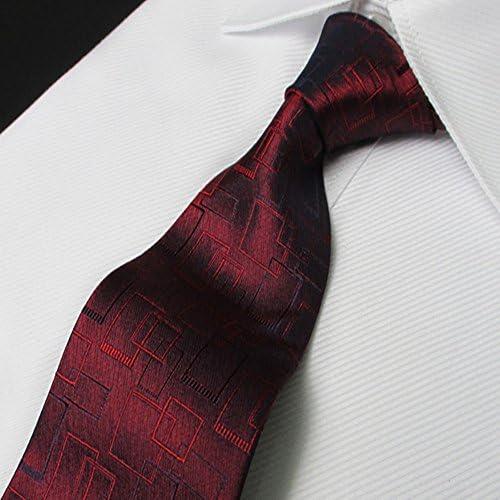 Clásico Diseñador YYB-Tie Corbata Moda Corbata Hombre Ropa Formal Negocio Corbata Novio Boda Matrimonio Telas de Seda Rojo Oscuro Patrón Corbata wApuJQ oD7SVZ