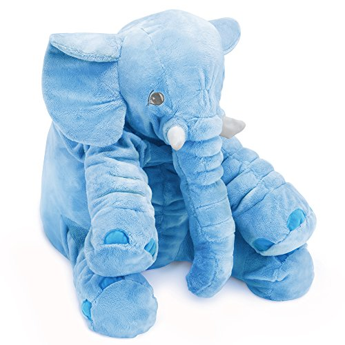 Natura Ultimate Latex (Naturally Nature Stuffed Plush Elephant Blue - 24 inches, Blue Elephant)