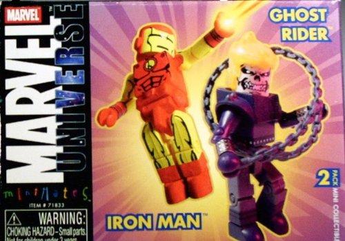minoristas en línea Marvel Universe Minimates Iron Man and and and Ghost Rider 2 Pack by Art Asylum  excelentes precios