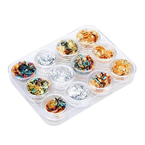bhbuy-12-pots-glitter-silver-gold-paillette-flake-chip-foil-nail-art-tips-decoration-2-pack