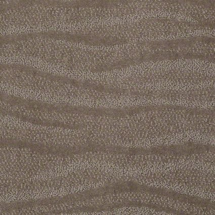 SQUARE 9'X9' Surfs Up Simply Taupe | Pattern Cut Pile and Loop Textured Area (Textured Cut Taupe Area Rug)