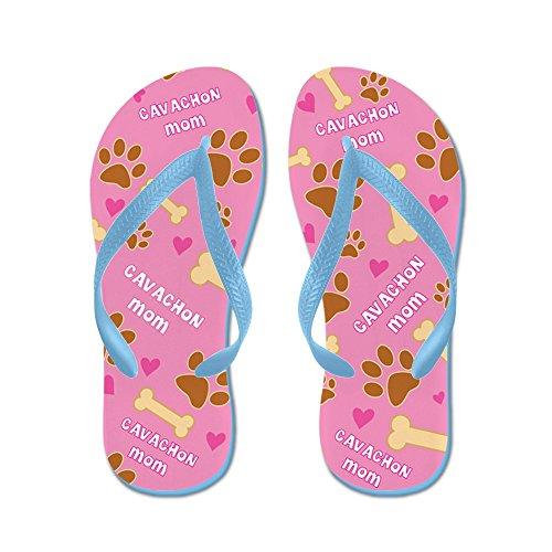 Cafepress Cavachon Mamma Gåva Flip Flops - Flip Flops, Roliga Rem Sandaler, Strand Sandaler Caribbean Blue