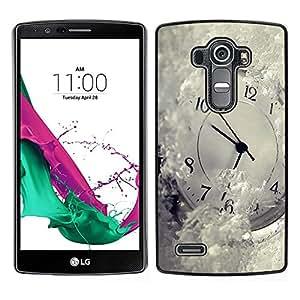 LECELL--Funda protectora / Cubierta / Piel For LG G4 -- Tiempo Metáfora Invierno Blancanieves Ticking --