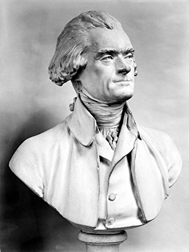 Thomas Jefferson (1743-1826) Nthird President Of The United States Plaster Bust By Jean Antoine Houdon (1741-1828) Poster Print by (18 x 24)