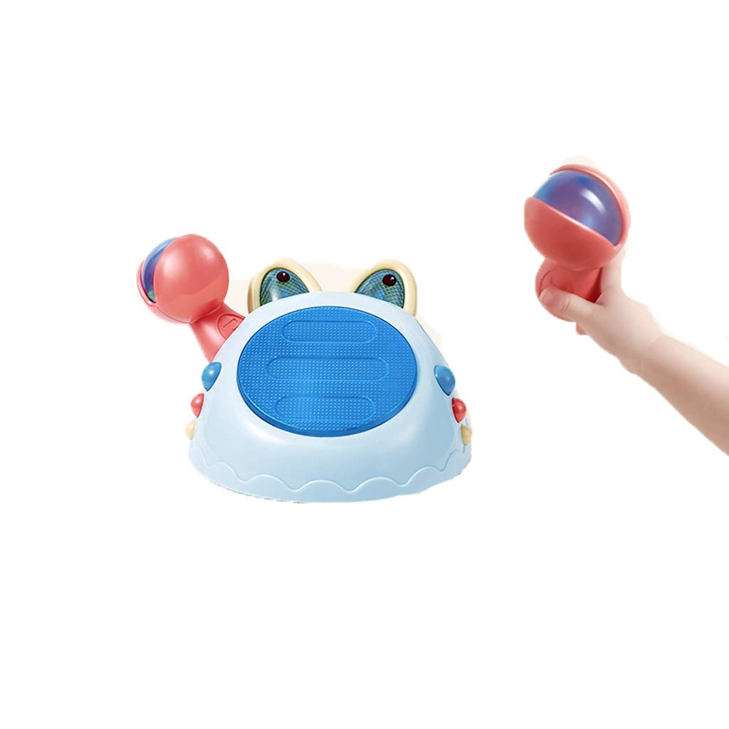 LIPENG-TOY Baby 6-12 Monate Multifunktionsspielzeug Pat Drum 0 bis 1 Jahr alt Früherziehung Puzzle Kinder Musik Handtrommel (Farbe : Blau)