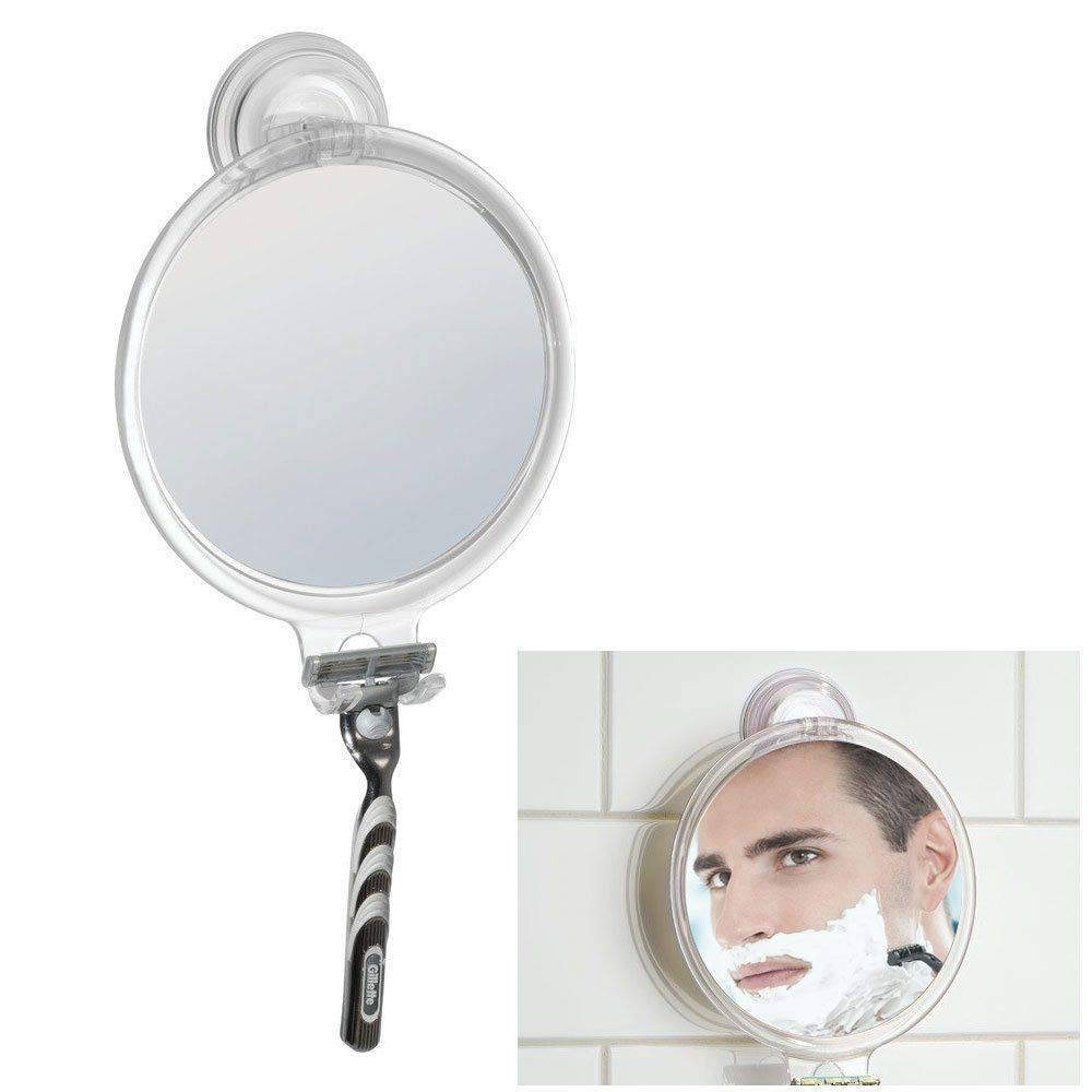 Fog Free Shaving Mirror Bath Tub and Shower with Power Lock Suction, Clear