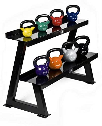 j//fit Vinyl Coated Iron Kettlebell Various Weights 5, 8, 10, 12, 15, 20, 25, 30, and 35 lbs