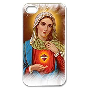 iphone covers Hard Shell Custom Case- Virgin Mary Christian and healing Child numerous Baby Jesus on Protective PC Case for iPhone attacks 4 iPhone 5c (White 020308)