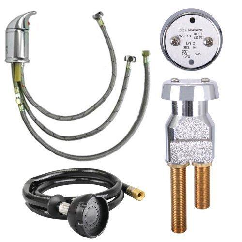 UPC Certified Salon Shampoo Bowl Faucet, Sprayer & Vacuum Breaker SU-94 (Shampoo Bowl Faucet)