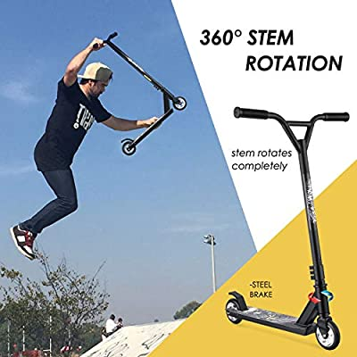 WeSkate Pro Scooters for Adults Teens, 360° Rotate Strick Scooter Rear Fender Brake, Aluminium Alloy Stunt Scooter for Youth and Age 7 Up Kids, Hight Quality Freestyle Kick Scooter for Boys and Girls from WeSkate