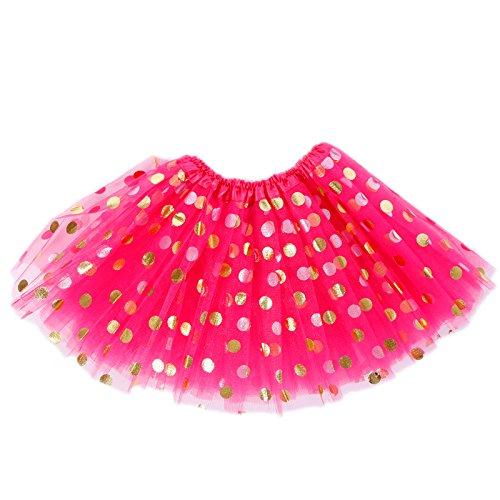 Enfant 6 6 Dore Couches Fille Cabaret Froufrou Transparent Tulle Varies Tutu Pois Burlesque Cocktail Petits Jupe 27cm 12 Couleurs w0CUOq