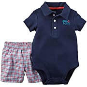 Carter's Baby Boys' Bodysuit Pant Sets 121g452, Blue, New Born
