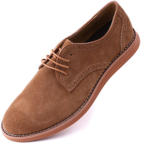 Men Business Casual Shoes Sand for Dress Oxford Marino Suede Shoes WXSqYx0Aw