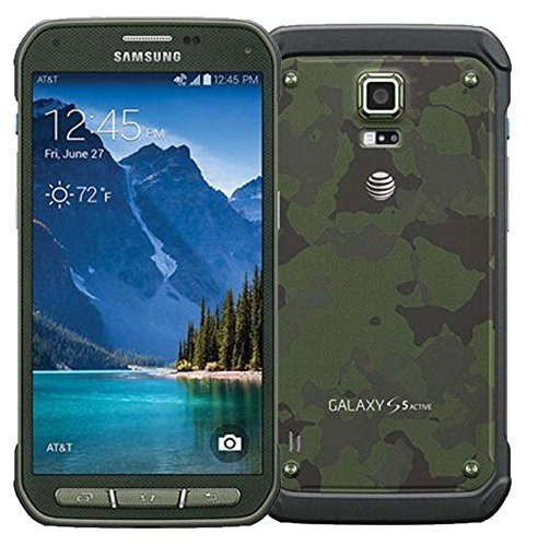 Samsung Galaxy S5 Active G870A 16GB Camo Green - Unlocked GSM (Certified