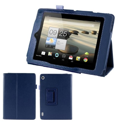 """Dark Blue Magentic Stand Case Cover for Acer Iconia Tab A1-810 7.9"""""""