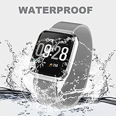 Deword Fitness Tracker Smart Watch, Epic Activity Tracker with Heart Rate Monitor, Waterproof Pedometer Watch with Sleep Monitor, Step Counter for Kids Women Men Gifts