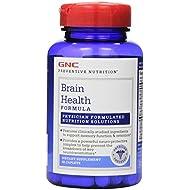 GNC Preventive Nutrition Brain Health Formula with Huperzine A, Choline Tyrosine