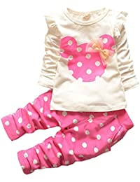 Baby Girl Clothes Infant Outfits Set 2 Pieces Cute Toddler with Long Sleeved Tops + Pants