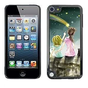 [Neutron-Star] Snap-on Series Teléfono Carcasa Funda Case Caso para Apple iPod Touch 5 [Dibujo mamá madre niños del cabrito]