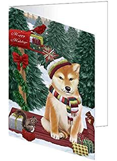 Shiba-Inu Christmas Cards Set of 10 cards /& 10 envelopes