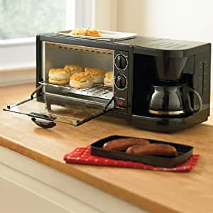 Brylanehome Toaster Oven, Griddle & Coffee Maker Combo [Kitchen]