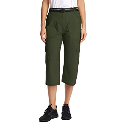 Women Hiking Pants, Quick Dry Women Outdoor Capri Pants, Cargo Hiking Capri Trousers, Straight Fit Capri Pants: Clothing