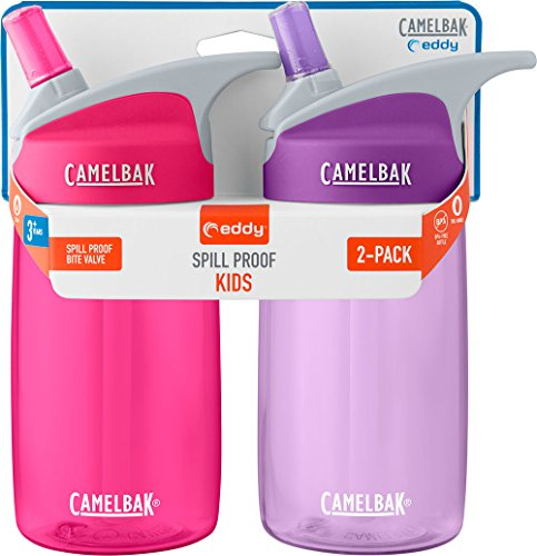 CamelBak Eddy Kids 2-Pack Waterbottle, Pink/Lilac, 4 Litre- 12oz]()