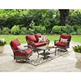 Better Homes and Gardens Colebrook 4-Piece Outdoor Conversation Set, Seats 5