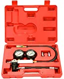 8milelake TU-21 Engine Cylinder Leakdown Tester Dual Gauge Diagnostic Cylinder Leak Tester