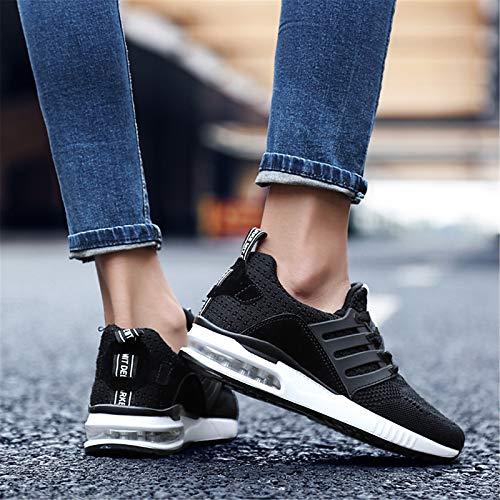 ZHZNVX Zapatos de Mujer de Punto Primavera/Verano Comfort Sneakers Flat Heel Grey/Green / Pink Black