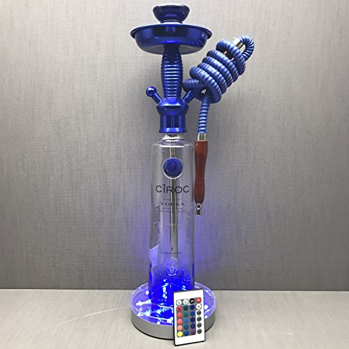 Ciroc vodka 1L Blue Snap Frost Bottle Hookah with LED Stand
