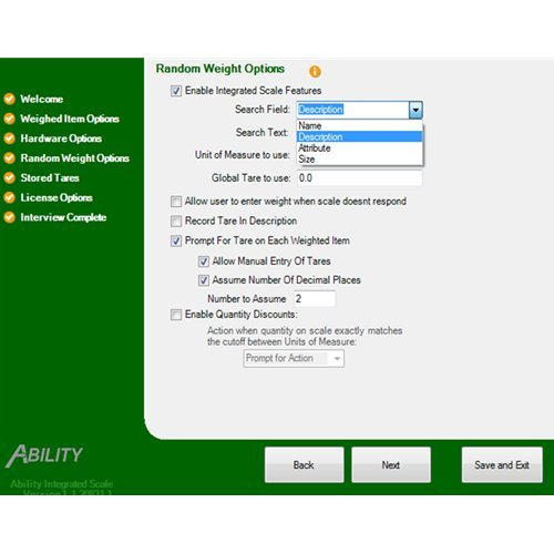 Ability Integrated Scale for QuickBooks Point of Sale
