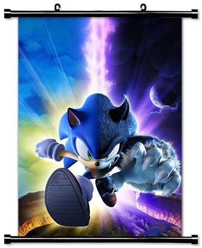 Amazon Com Poster Sonic The Hedgehog Game Fabric Wall Scroll 16 X 21 Inches Prints Posters Prints