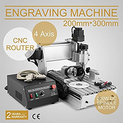 CNCShop CNC Router CNC Engraver Engraving Machine Cutting Machine 3020T 4th Axis Carving Tools Artwork Milling Woodworking