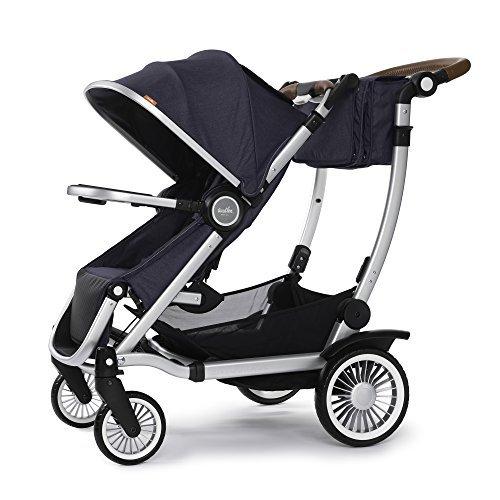 Austlen Entourage Stroller Snack Tray Bpa Free Baby Stroller Attachment Accessories Silver
