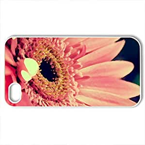 Beautiful Gerbera - Case Cover for iPhone 4 and 4s (Flowers Series, Watercolor style, White)