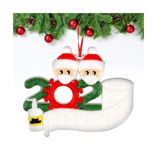 Sopravvissuto Famiglia Ornamento 2020 Quarantena Personalizzato Ornamenti di Natale Decorazioni per L'Albero di Natale Ornamenti Famiglia di Albero di Natale Ornamento Home Decor Regali di Natale 1 spesavip