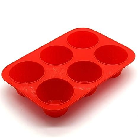 YiWa moldes silicona moldes Panettone Bandejas antiadherentes 6 agujeros de cocina herramientas de cocina para horno