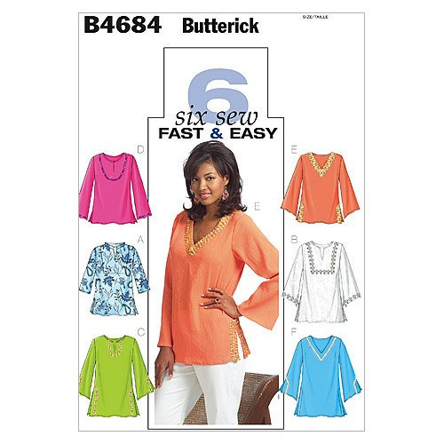Butterick Patterns B4684 Misses'/Misses' Petite Top and Tunic, Size Z (LRG-XLG)