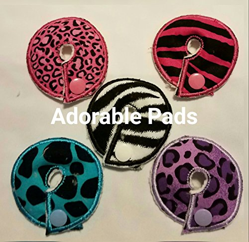 (Adorable Pads G/J Tube Pad 5 Pack (animal print))
