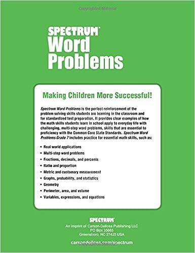 Amazon.com: Word Problems, Grade 7 (Spectrum) (9781624427336 ...