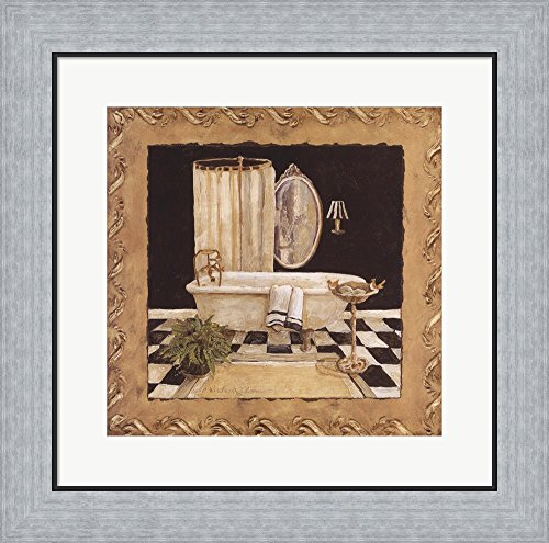 Maison Bath I by Charlene Winter Olson Framed Art Print Wall Picture, Flat Silver Frame, 19 x 19 inches